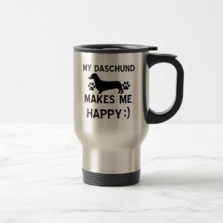Mug De Voyage Conceptions de chien de Daschund