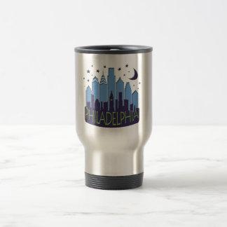 Mug De Voyage Cool de méga d'horizon de Philly