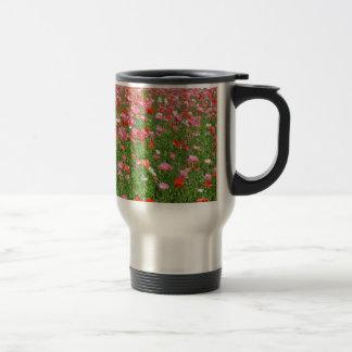 Mug De Voyage Copie assez rose de fleurs de pavot