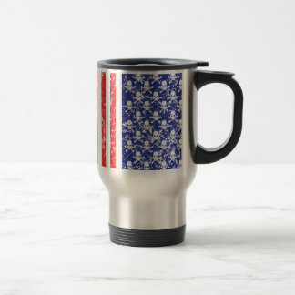 Mug De Voyage Crânes patriotiques