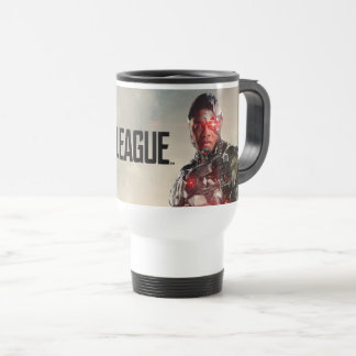 Mug De Voyage Cyborg de la ligue de justice | sur le champ de