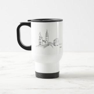 Mug De Voyage Dessin simple de croquis élégant chic de Londres