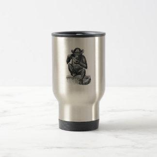 Mug De Voyage Dessin vintage de chimpanzé de bébé