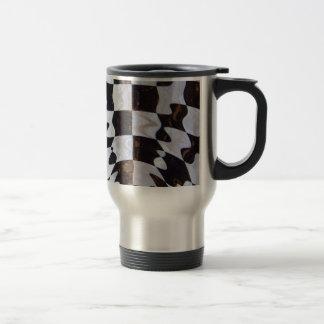 Mug De Voyage Drapeau Checkered avec l'effet d'ondulation