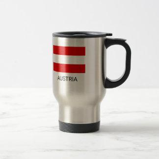 Mug De Voyage Drapeau de l'Autriche