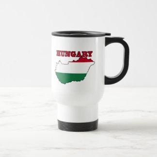 Mug De Voyage Drapeau hongrois dans la carte