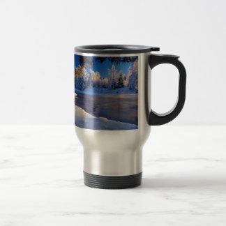 Mug De Voyage Écoulement de glace de rivière de nature