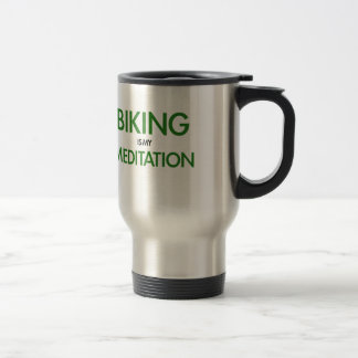 Mug De Voyage Faire du vélo est ma méditation