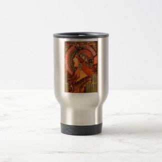 Mug De Voyage Femme d'Alfons Mucha dans le savonnerie de