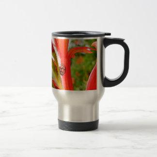 Mug De Voyage fleur rouge de coccinelle de legs mobile