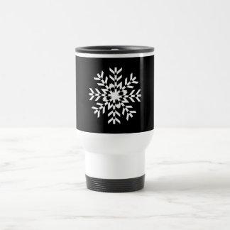 Mug De Voyage Flocon de neige blanc de base