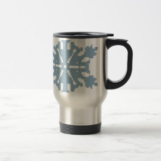 Mug De Voyage Flocon de neige - bleu