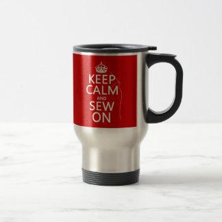Mug De Voyage Gardez le calme et cousez sur (toutes les