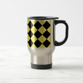 Mug De Voyage Grand Checkered de Diag - noir et citron
