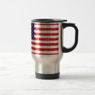 Mug De Voyage *Hand américain Sketch* de drapeau des Etats-Unis