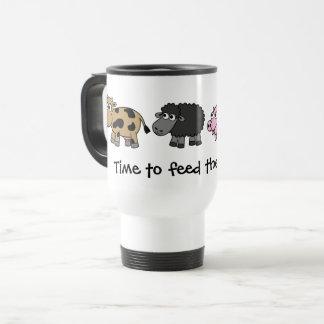 Mug De Voyage Heure d'alimenter les animaux ! Agriculteurs