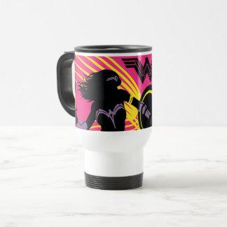 Mug De Voyage Icône de silhouette de femme de merveille de la