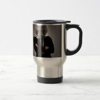 Mug De Voyage Image de concept d'un businesswoman.