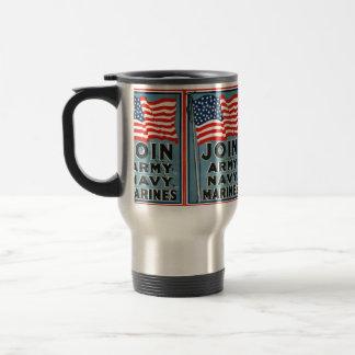 Mug De Voyage Joignez l'armée, marine, marines WPA 1917