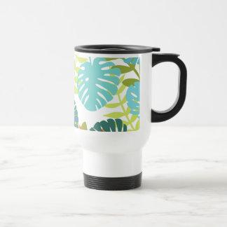 Mug De Voyage Jungle tropicale avec les palmettes vertes