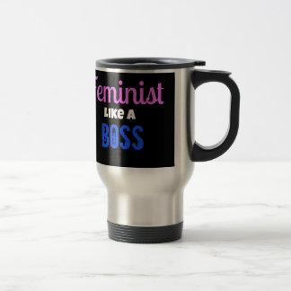 Mug De Voyage Le féministe aiment un patron