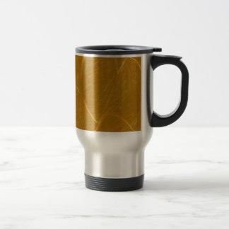 Mug De Voyage Lotus d'or a gravé à l'eau-forte le motif à bas