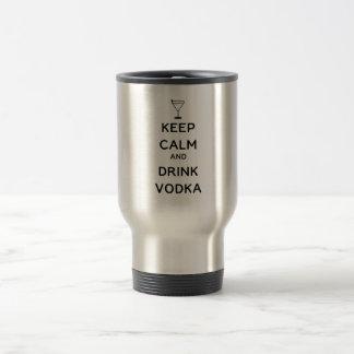 Mug De Voyage Maintenez vodka calme et de boissons