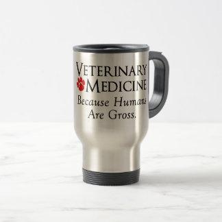 Mug De Voyage Médecine vétérinaire…. Puisque les humains sont