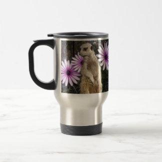 Mug De Voyage Meerkat et marguerites,