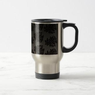 Mug De Voyage modèle le design_flowers_black
