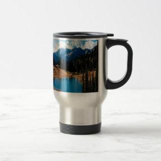 Mug De Voyage Montagne de natures de Lakeside de nature