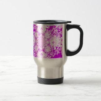 Mug De Voyage Motif de fleur floral lilas élégant de dahlia