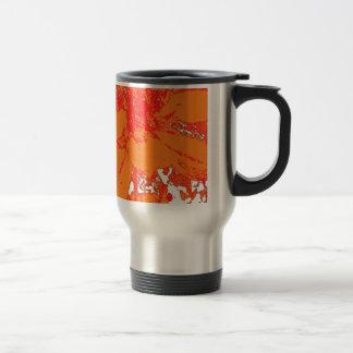 Mug De Voyage Motif de fleur floral orange lumineux de dahlia