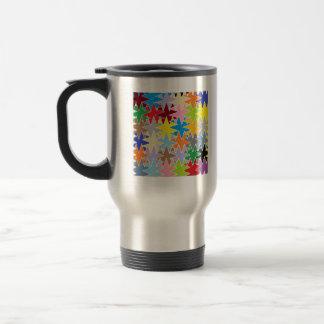 Mug De Voyage Motifs multicolores de métier de papier de diamant