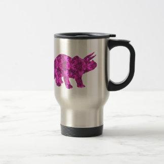 Mug De Voyage Nom personnalisé par dinosaure rose lumineux sur
