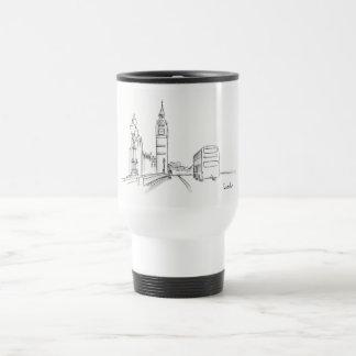 Mug De Voyage Nostalgique chic élégant de croquis de Londres