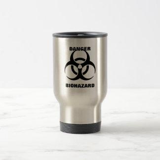 Mug De Voyage Panneau d'avertissement de symbole de Biohazard de
