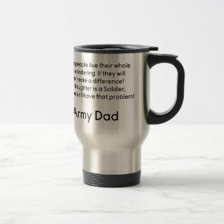 Mug De Voyage Papa d'armée aucune fille de problème