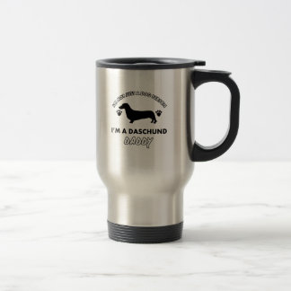 Mug De Voyage Papa de chien de papa de Daschund