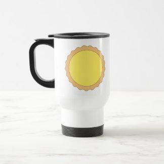 Mug De Voyage Pâtisserie de tarte de citron. Jaune ensoleillé
