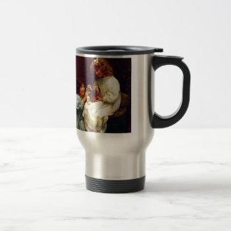 Mug De Voyage Peinture d'antiquité de chien de deux soeurs de
