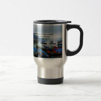 Mug De Voyage Photo inspirée de bateau de DÉCOUVERTE de citation
