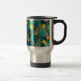 Mug De Voyage pineaple et citrons turquoises