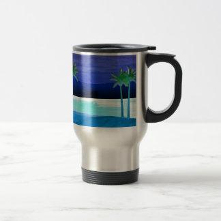 Mug De Voyage Plage et palmiers