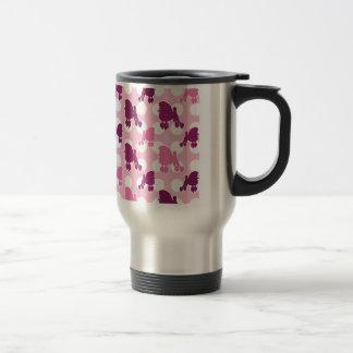Mug De Voyage Point de polka rose de caniche