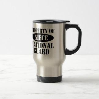 Mug De Voyage Propriété de nièce de garde nationale