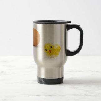 Mug De Voyage qu'est venu d'abord le poulet ou l'oeuf ?