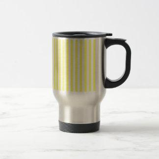 Mug De Voyage Rayures minces - blanc et citron