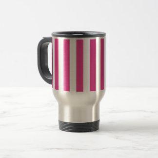 Mug De Voyage Rayures verticales roses