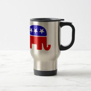Mug De Voyage Rondin républicain américain